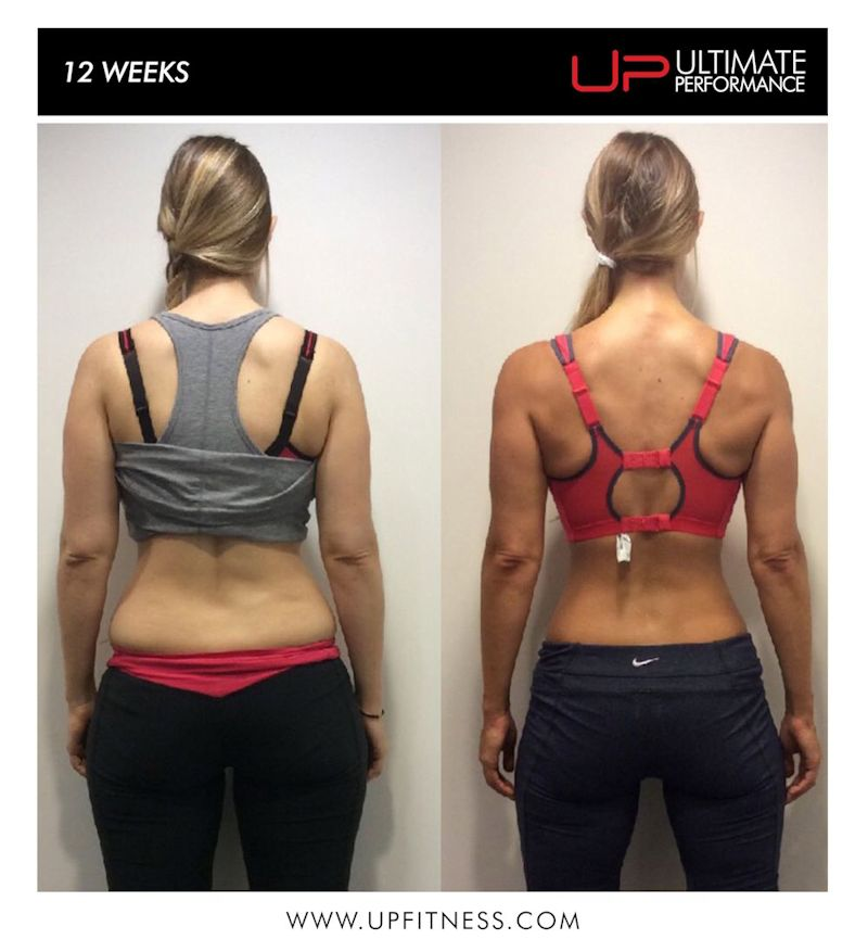 12 wk female fat loss transformation